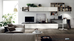 Modern TV Cabinet Furniture with Open Shelf pictures & photos