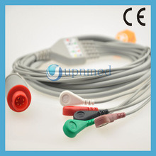 Bionet Bm3 Patient Monitor 5 Lead ECG Cable with Leadwires, Snap pictures & photos