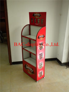 3-Layers Custom Merchandise Shelf Food Display Rack pictures & photos