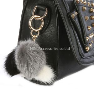 Faux Fur Pompom Bag Accessory Multi Color Key Chain Ornament Gift pictures & photos