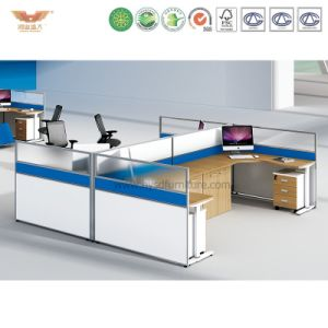 Modern Office Furniture Wooden L Shape Office Partition (H15-0824)