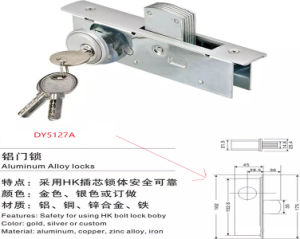 on Sale Safe Door Slide Aluminum Hardware Door Lock pictures & photos