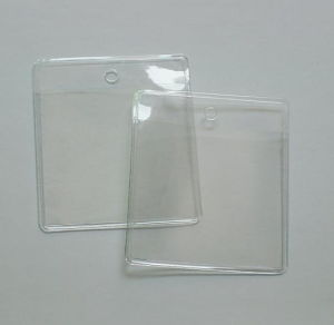 Mini Simple Clear PVC Plastic Business Card Pouch pictures & photos