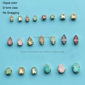 Oppal Pink Green White Acrylic Rhinestone D Form Claw Setting Acyli Resin Stone (SW-Oppal) pictures & photos