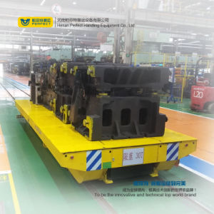 Electric Rail Mounted Flat Transport Bogie on Tracks pictures & photos