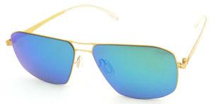 FM171281 New Design Good Quality Big Frame Mirror Nylon Lens Metal Sunglasses pictures & photos