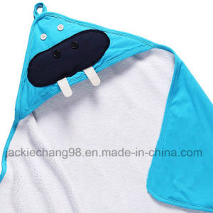 Printed Hooded Cotton Baby Blanket Kids Blanket (HR14KB008) pictures & photos