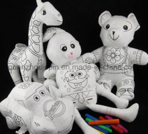 DIY Various Washable Reusable Kids Children Doodle Graffiti Blank Stuffed Doll Toy pictures & photos