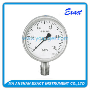 Normal Use Liquid Filled Mechanical Calibration Machine Pressure Gauge pictures & photos