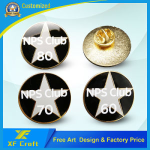 Low Price Customized Metal 2D Button Badge for Souvenir Gift (XF-BG01) pictures & photos