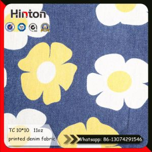 Small Order Sunflower Printed Denim Fabric for Children pictures & photos