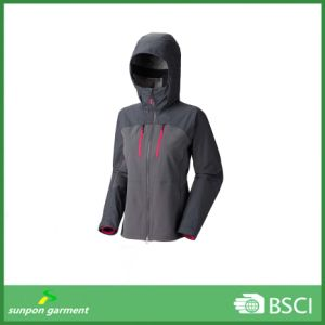Windproof, Waterproof, Breathable Contrast Color Softshell Jacket pictures & photos