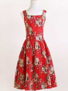 Retro Vintage Floral Linen Fabric Boho Style Sleeveless Ladies Dress pictures & photos