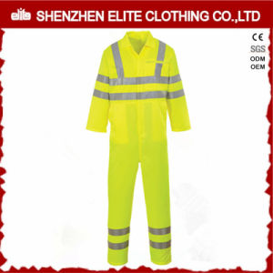 Working Protective Fluorescent Yellow Reflective Tapes Coverall pictures & photos