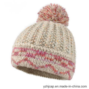 Acrylic Jacquard Knit Hat POM POM Beanie Hat Knitted Hat pictures & photos