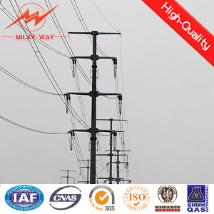 25FT Burial Type Galvanized Steel Electric Pole pictures & photos
