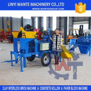 Diesel Engine Clay Interlocking Brick/Block Making Machine pictures & photos