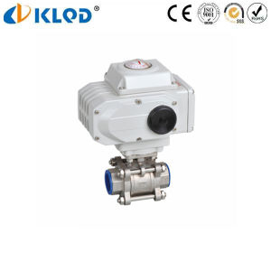 3 PCS CF8m Stainless Steel Electric Ball Valve 3 Inch pictures & photos