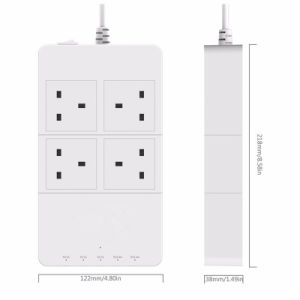 Intelligent Power Stirp EU/Us/UK/Au Plug 4 Outlet with 5 Ports USB Charger pictures & photos