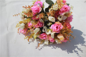 High Quality Handmade Silk Artificial Rose Flowers Wedding Bouquets pictures & photos