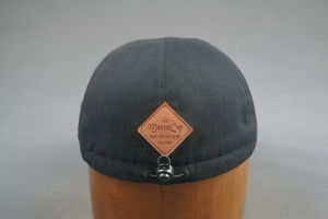 Cotton Herringbone IVY Newsboy Cap with PU Embossed Leather pictures & photos