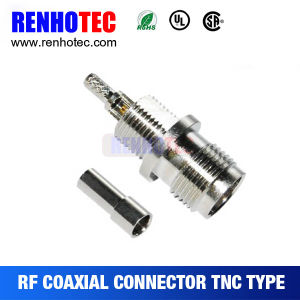Bulkhead TNC Female Coaxial Connector for Cable Assembly pictures & photos