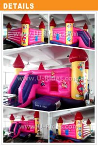 Clown and Princess Pink Jumping Inflatable castle pictures & photos