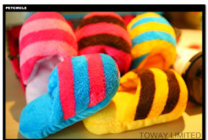 Plush Sounding Stuffed Pet Slippers for Dog Bite Play Toys pictures & photos