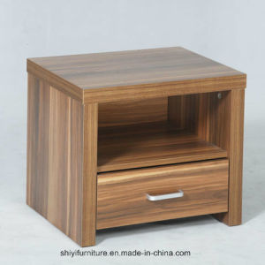 Real Wood Bedside Table, Nightstand in Solid Walnut Board, Wood Table pictures & photos