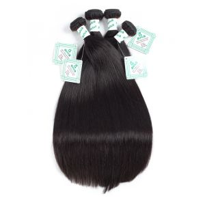 Peruvian Straight Virgin Hair Weaving Natural Color 100% Unprocessed Human Hair Weft Bulk pictures & photos