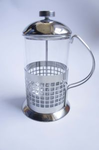 Classic 350ml / 3-Cup Stainless Steel Glass Cafetiere French Filter Coffee Press Plunger pictures & photos