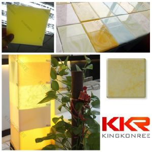 Artificial Stone 6mm Solid Surface Translucent Resin Panel pictures & photos