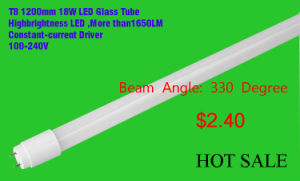 T8 LED Tube Lighting Glass Material with CE RoHS (EGT8F09)