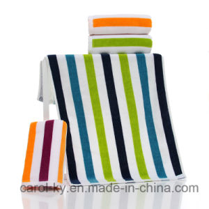 Cotton Color Stripe Beach Bath Towel pictures & photos
