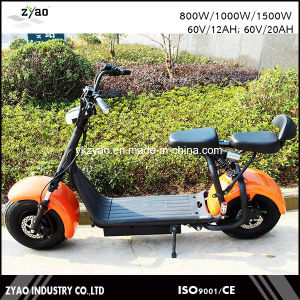 E-Scooter City Coco 2 Wheels Electric Motorcycle, 1000W Adult Electric City Scooter 62V/72V 20ah pictures & photos