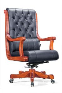 Quality Warranty Good Price Wooden Boss Chair (HX-8016) pictures & photos