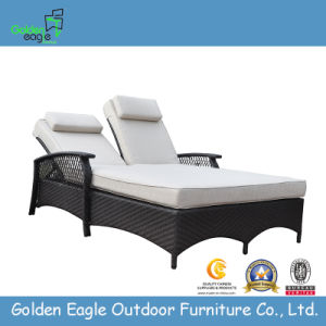 Outdoor Aluminum Synthetic Rattan Furniture Lounger Set pictures & photos