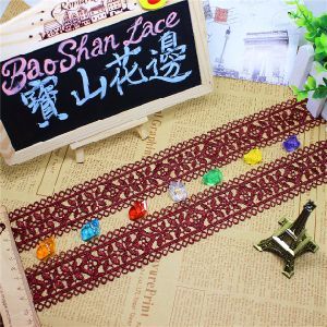Factory Stock Wholesale 4.5cm Width Embroidery Nylon Lace Polyester Embroidery Trimming Fancy Lace for Garments Accessory & Home Textiles & Curtains pictures & photos