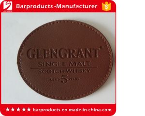 Custom Round Leather Coaster with Debossed Logo
