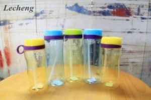 500ml Transparent Bright-Colored Sports Water Bottle