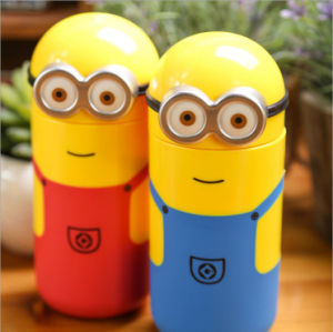 238ml Minion Cartoon 18/8 Double Wall Stainless Steel Vacuum Thermos pictures & photos