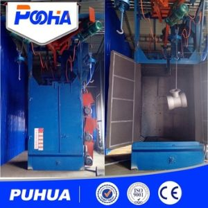 Ce Approved Simple Double Hook Type Shot Blasting Machine pictures & photos