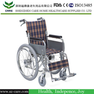 Self-Transporting Pediatric Wheelchair with Folding Back & Dual Brakes for Kids