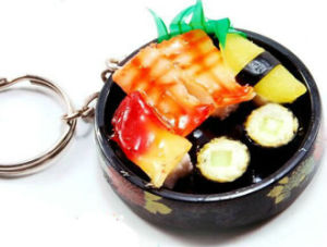 OEM Design Fashion Plastic Food Keychain pictures & photos