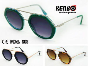 New Coming Fashion Hexagon Frame Sunglasses for Accessory, CE FDA Kp50730 pictures & photos