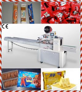 Pillow Type Packaging Machine (ZP-100 Series) for Biscuits/Cracker/Bread/Cake pictures & photos