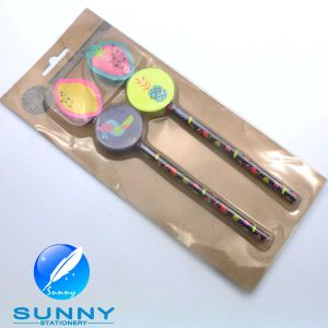 2015 Wooden Pencil with Eraser Stationery Blister Card Set pictures & photos
