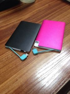 Super Slim Metal Card Type 2600mAh Power Bank pictures & photos
