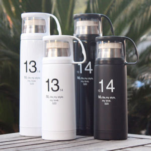 Stainless Steel Double Wall Vacuum Flask with Cup pictures & photos