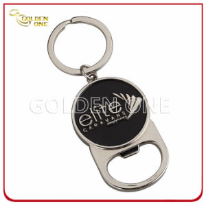 Soft Enamel Nickel Plated Metal Bottle Opener Keychain pictures & photos